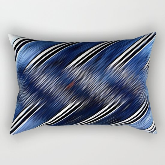 Abstract #Blue #Black #3 #art #society6 Rectangular Pillow