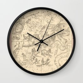 Burritt's Constellations (January, February, March) (1856) Wall Clock