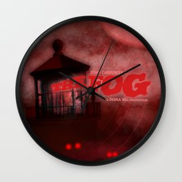 The Fog - Blood Red Wall Clock