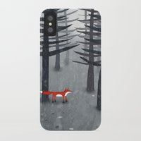 photograph iPhone & iPod Cases featuring The Fox and the Forest by Nic Squirrell