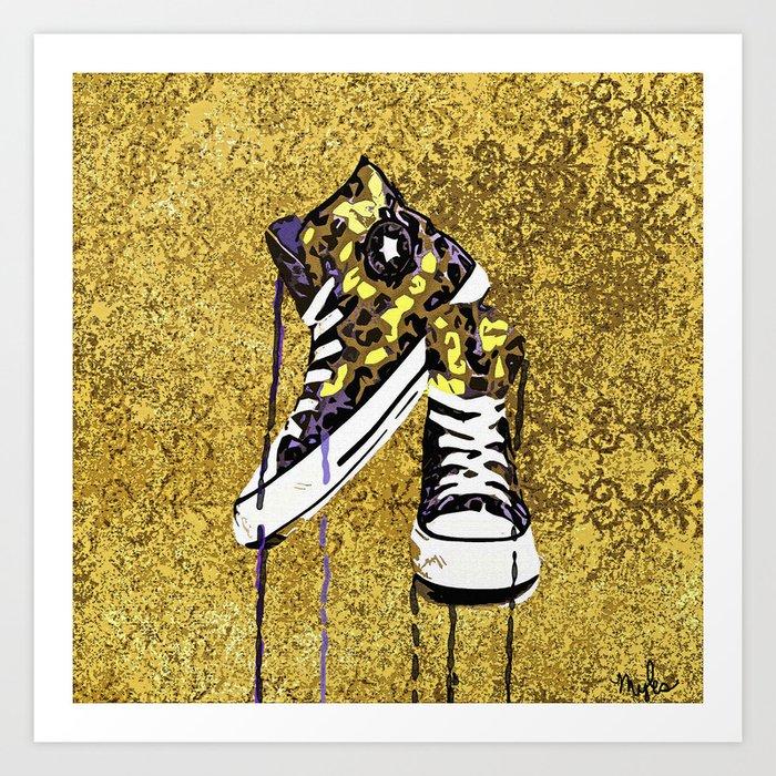 Animal Print Tennis Shoes Take A Walk On The Wild Side Art By Saundramyles