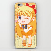 sailor venus iPhone & iPod Skins featuring Sailor Venus by strawberryquiche