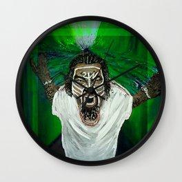 TechN9ne Whirlwind Green Wall Clock
