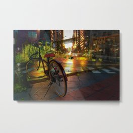 Urban Bike Metal Print