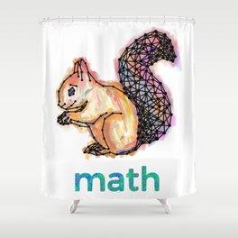 Squirrelmath Shower Curtain