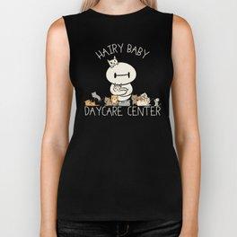 Hairy Baby Daycare Center (All chibi) Biker Tank
