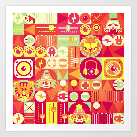 Electro Circus Art Print