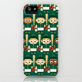 Baseball Green and Gold - Super cute sports stars iPhone Case