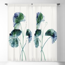 Water lily leaves Blackout Curtain