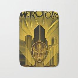 "Vintage 1927 ""Metropolis"" Movie Lithograph Advertisement Poster Bath Mat"
