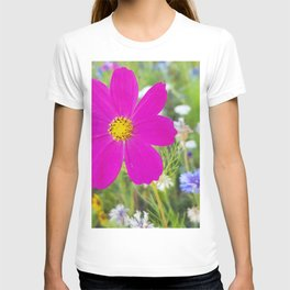 Flowers Go Wild in Wimbledon 5 - Cosmos the bold T-shirt