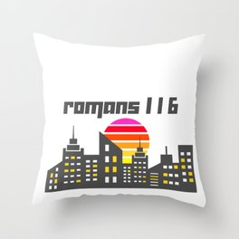 Romans 1:16 Throw Pillow