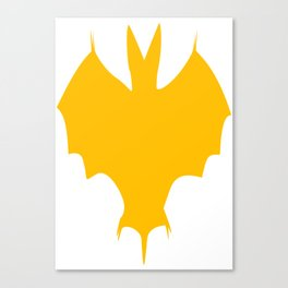 Orange-Yellow Silhouette Of a Bat  Canvas Print
