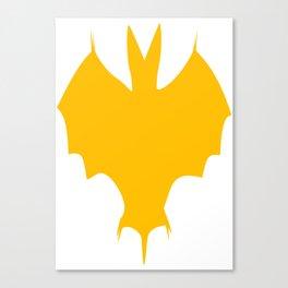 Orange-Yellow Silhouette Of a Bat  Canvas Print