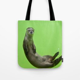 Green Otter Tote Bag