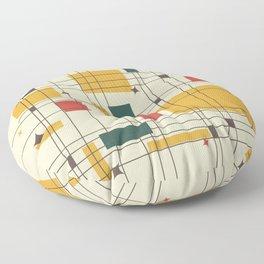 Mid-Century Modern (gold) Floor Pillow