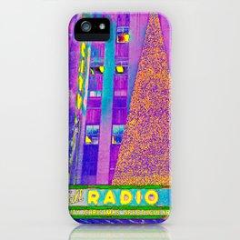 Radio City Music Hall with Holiday Tree, New York City, New York iPhone Case