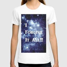 Blue Galaxy : I Forgive It All T-shirt