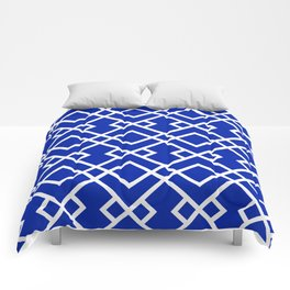 Florida fan gators university orange and blue team spirit football college sports lattice trellis Comforters