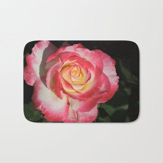 Multi-Hued Rose Bath Mat
