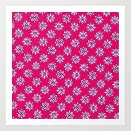 Indian Floral Seamless pattern Art Print