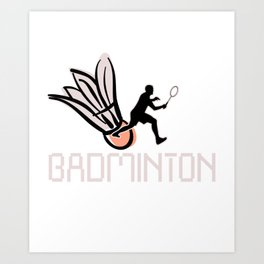 Badminton  Sports Games Play Players Net Ball Gift Art Print