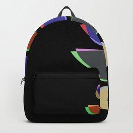 Mid Century II - Pastel, coloured artwork Backpack