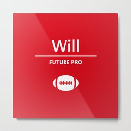 Will Future Pro - Red and White Metal Print