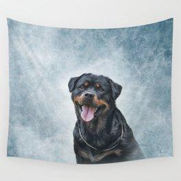 rottweiler dog Wall Tapestry
