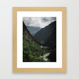 Nepal Series | Phakding, Himalayas Framed Art Print