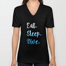 Eat. Sleep. Dive. Unisex V-Neck