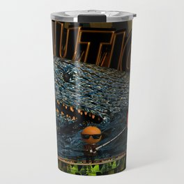 Orange Bait 0001: Caution Travel Mug