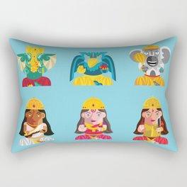 Indian Box Dolls Rectangular Pillow