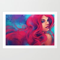 alicexz Art Prints featuring Daughter of Triton by Alice X. Zhang
