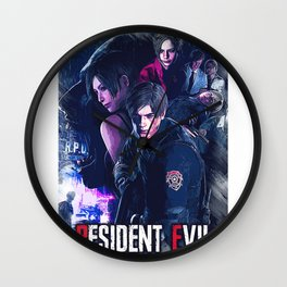 resident evil game art Wall Clock