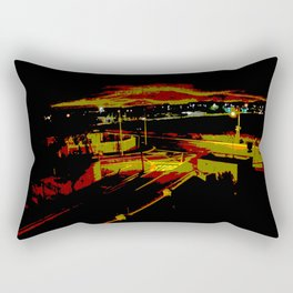 Don't stop. It's a sign. Stop street in the dark Rectangular Pillow