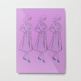 Fifties ladies Metal Print