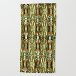 Out there in the woods, I feel peace........ Beach Towel