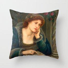 "Marie Spartali Stillman ""Beatrice"" Throw Pillow"