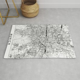 Munich White Map Rug
