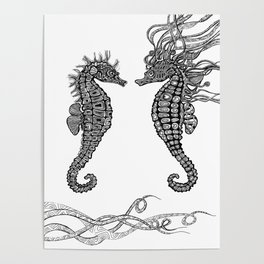 Seahorses love Poster