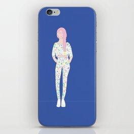GRL PWR white iPhone Skin