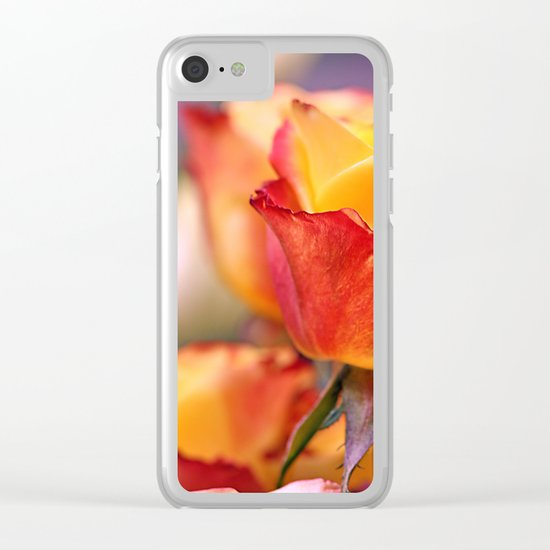 Romantic rose(3) Clear iPhone Case