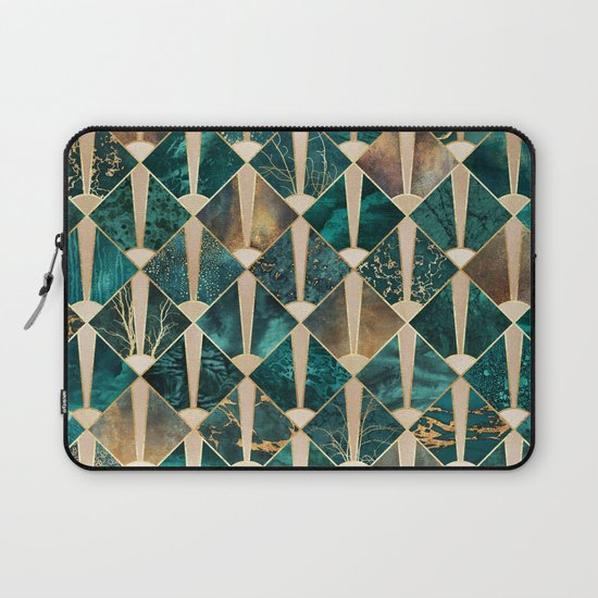 Art Deco Tiles - Ocean Laptop Sleeve