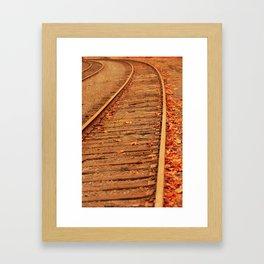 AUTUMN RAILS Framed Art Print