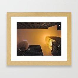 Fiery Look Up Framed Art Print