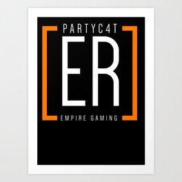 PARTYC4T - Empire Shirt Art Print