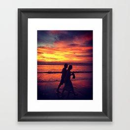Stroll of Companionship Framed Art Print