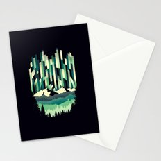 Sunrise in Vertical - Winter Blues Stationery Cards