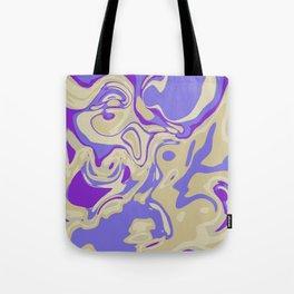 Acrylic Flow #3107 - Blu Berry Mofin Tote Bag